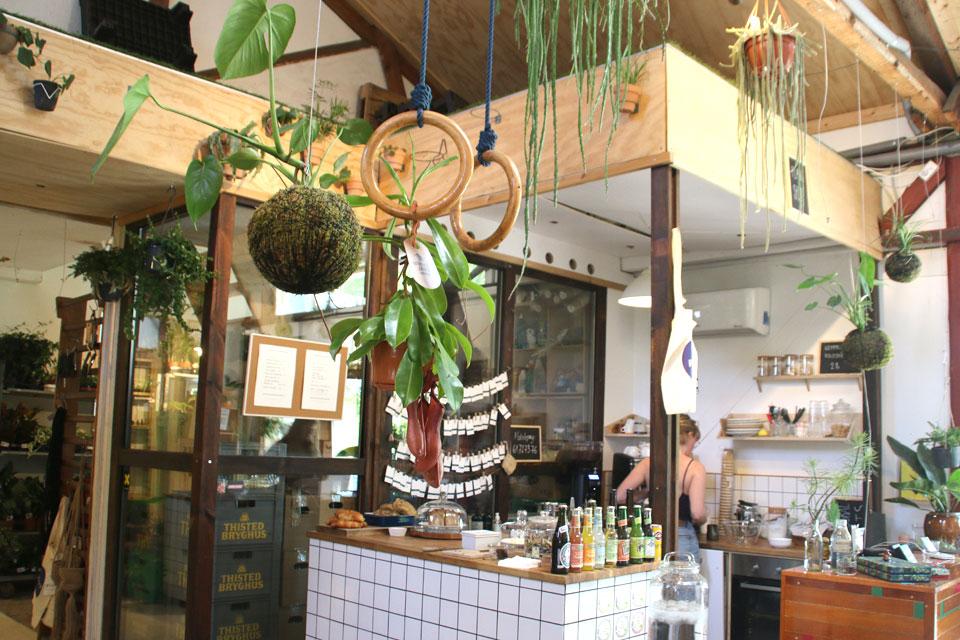 Цветочное кафе в городе Орхус К