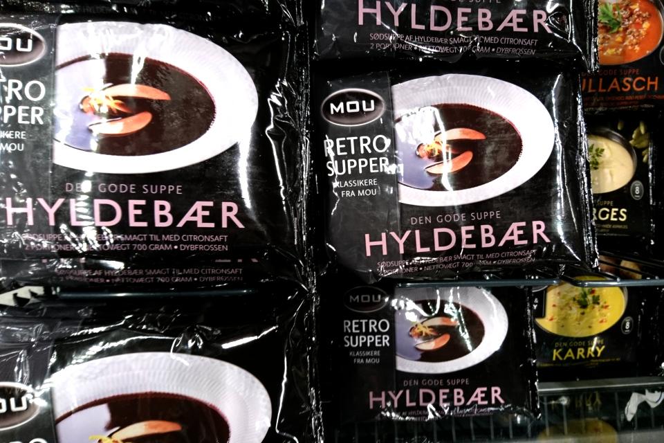 Бузинный суп замороженный. Фото 6 нояб. 2019, супермаркет г. Вибю, Дания