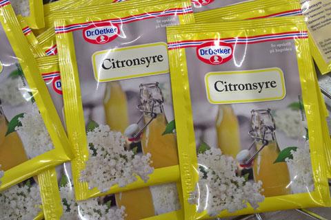 Лимонная кислота для напитка - Бузина в продуктах питания Дании