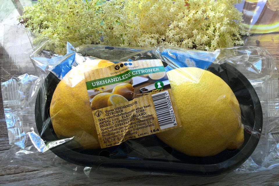 Экологический лимон с необработанной поверхностью (дат. ubehandlede citroner)