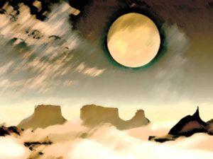 Печальный лунный круг