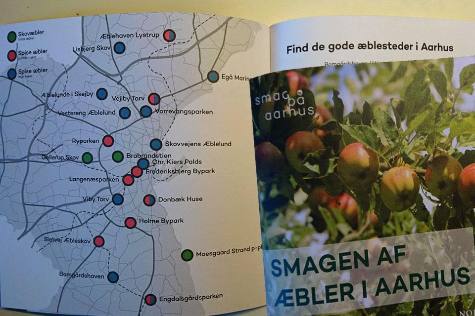 Брошюра с информацией о свободном сборе яблок в г. Орхус