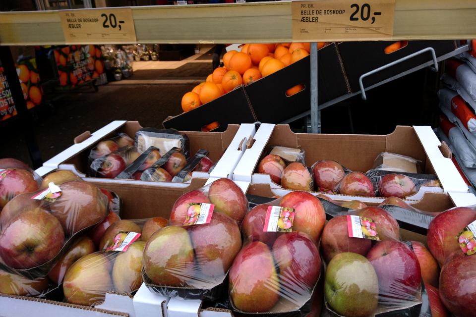 Яблоки сорт Белле де Боскоп (Belle de Boskoop) красного цвета