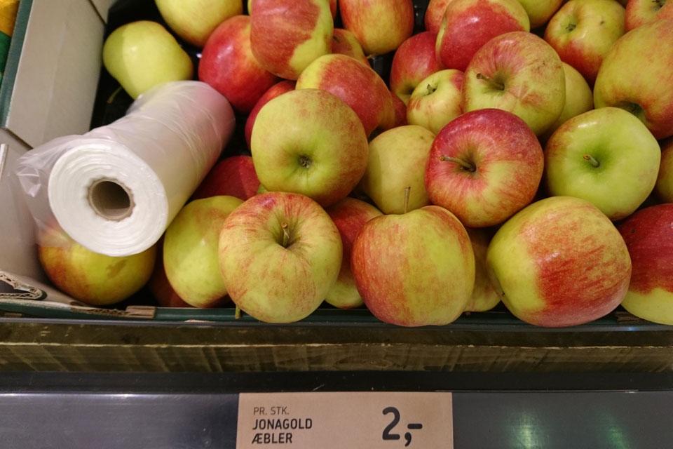 Сорта яблок в магазинах Дании: Джонаголд - Jonagold