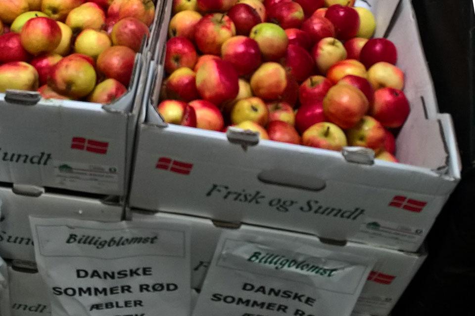 Сорта яблок в магазинах Дании: Саммер Ред - Summer Red / Sommer Rød