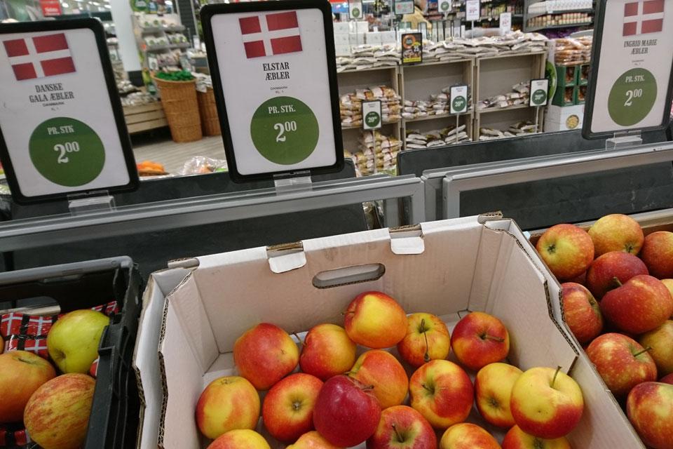 Сорта яблок в магазинах Дании: Ред Эльстар - Rød ElStar