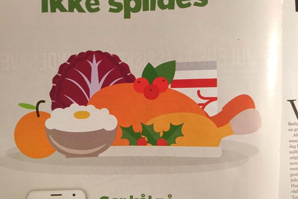 Визуальная иллюстрация рождественского ужина в Дании