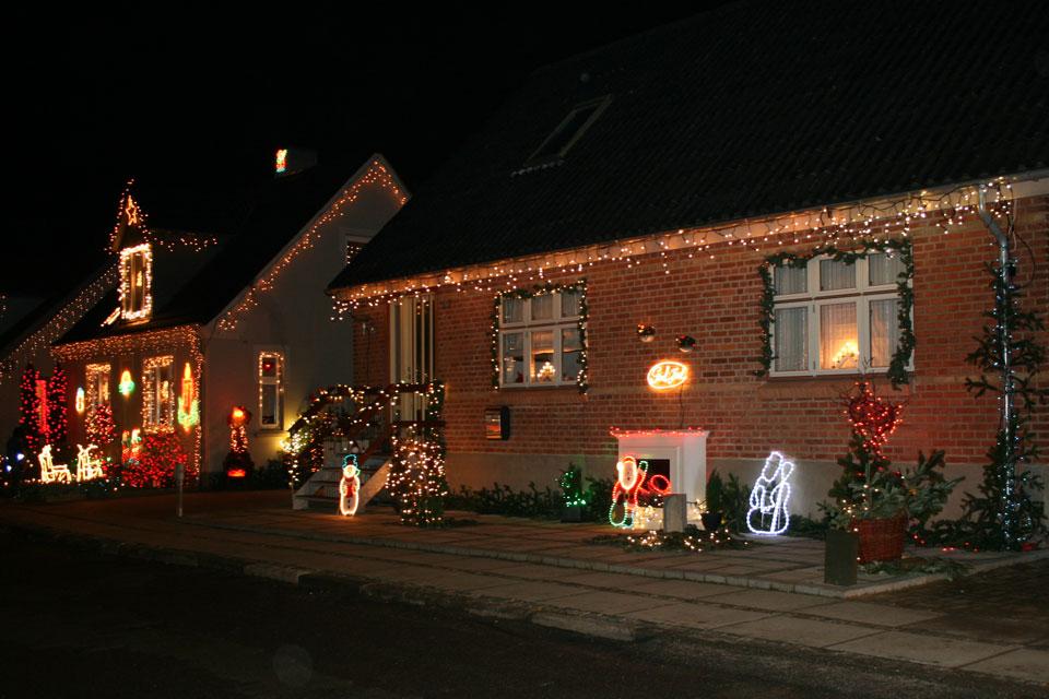 Самая наряженная рождественская улица в Дании