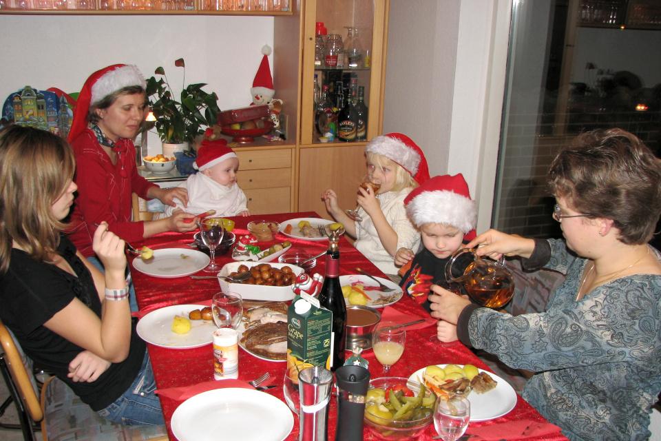 Сладкий картофель по-датски на рождественском столе, Дания