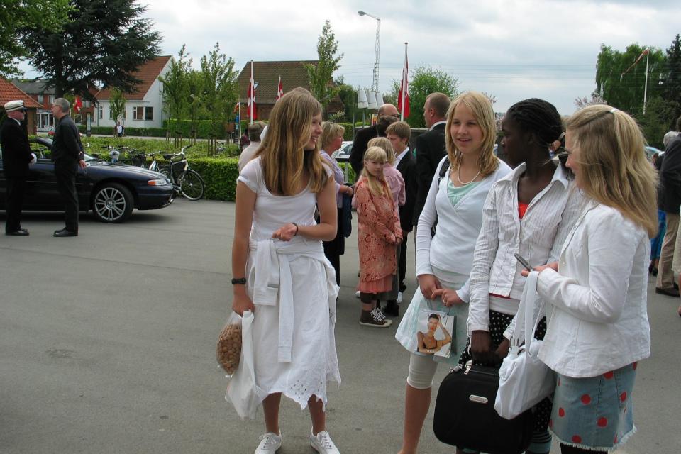 Конфирмация в Дании konfirmation 13maj2006 www.florapassionis.com
