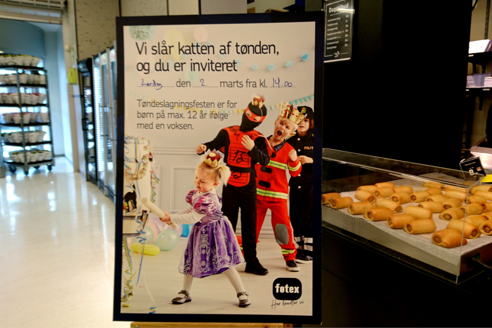 Масленица в Дании - Фастелавн reklama 28feb19 føtex www.florapassionis.com