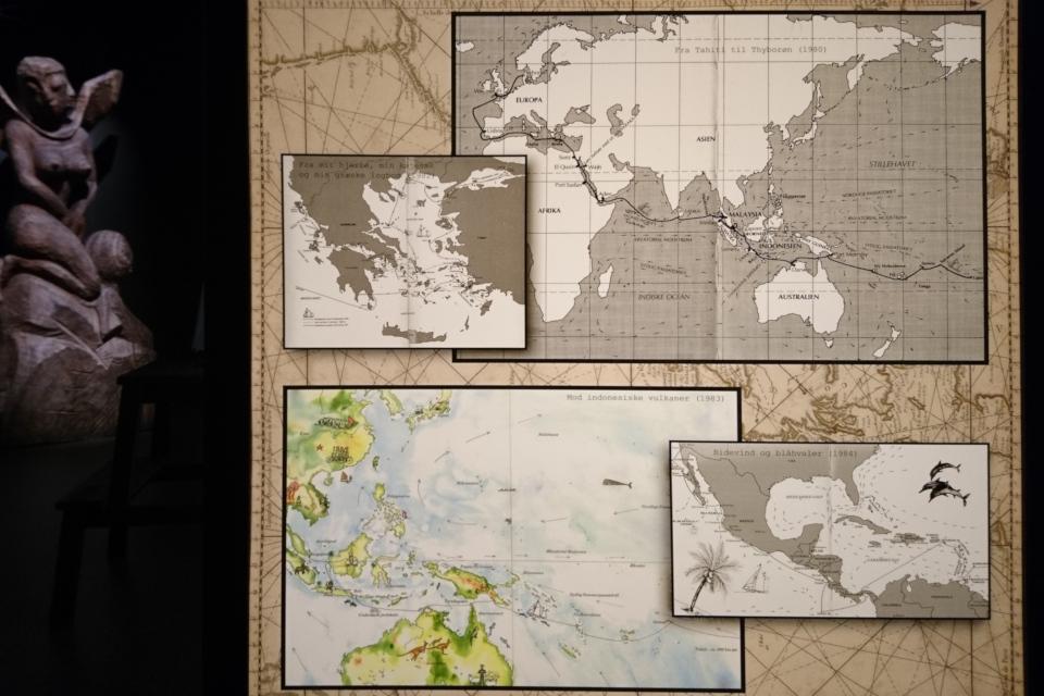 Карты, демонстрирующие маршруты кругосветных путешествий