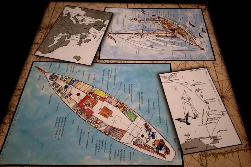 Схема корабля Nordkaperen. Фото на выставке в музее истории и природы