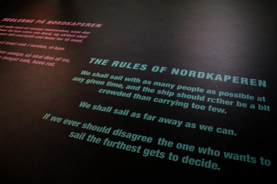 Правила корабля Nordkaperen на выставке Троэльс Клёведал