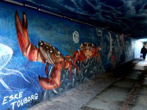 Раскрашенный тоннель – водная фауна Дании