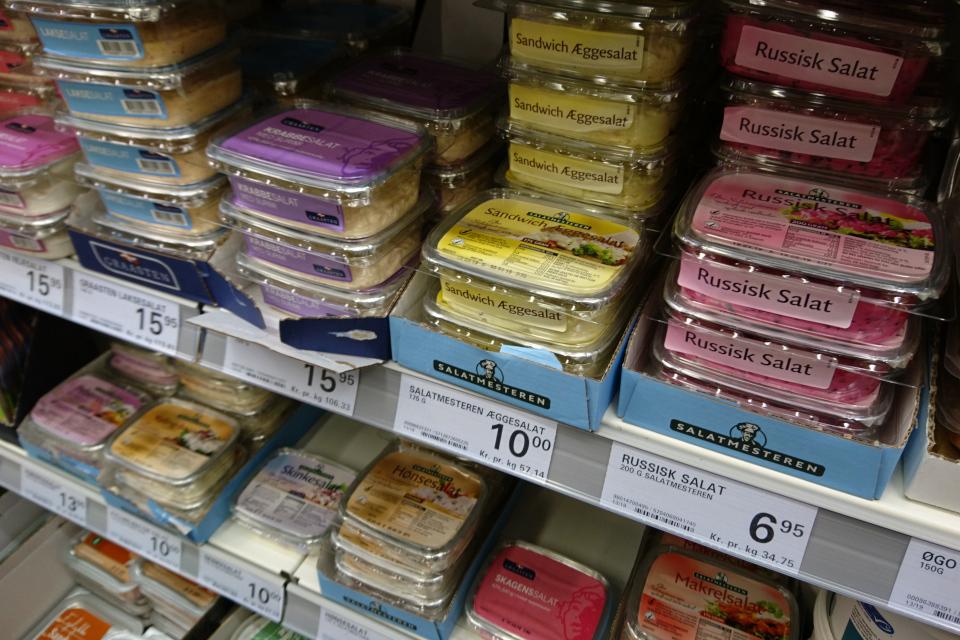 Начинки для смёрребрёд в супермаркете