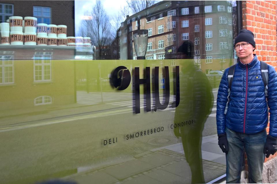 Кафетерий HUJ в центре города Орхус, Дания