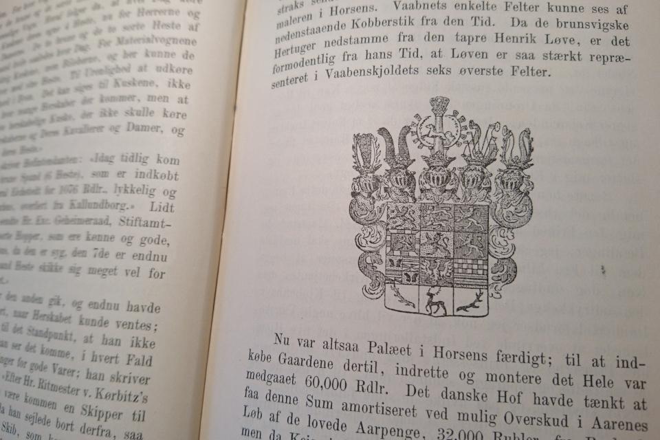 Герб Брауншвейгского рода из книги Русский княжеский двор в Хорсенсе