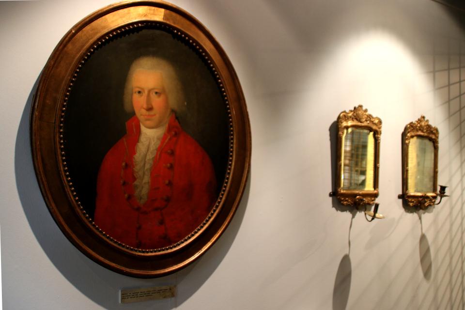 Портрет Хаух (Hauch) - начальника русского княжеского двора в 1784 - 1807 г