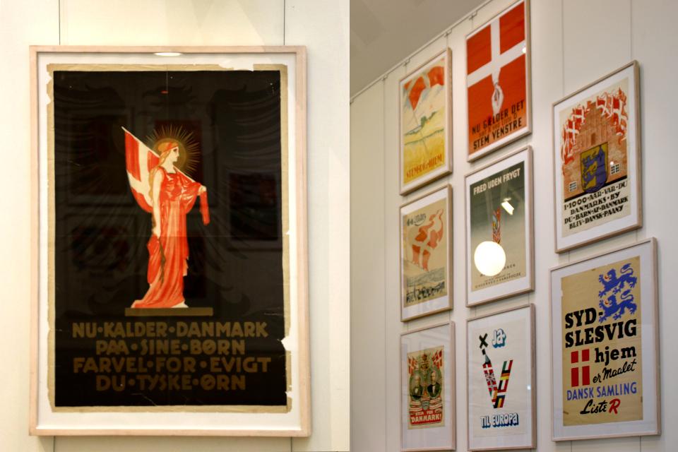 Флаг Дании Даннеброг - история в плакатах
