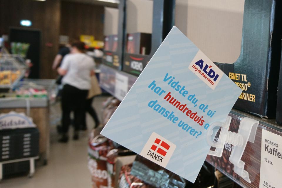 Табличка в магазине Алди / Aldi