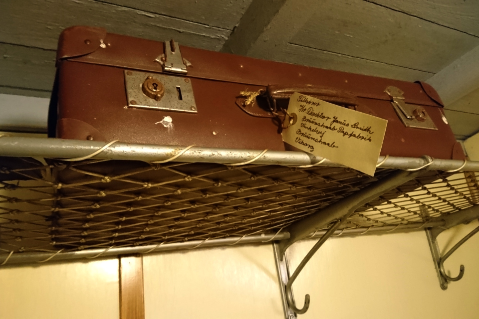 Картонный чемодан, принадлежавший директору фабрики Янус Смит (Janus Smith)