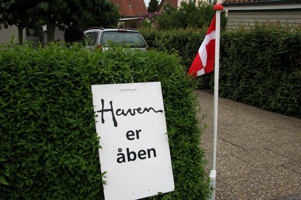 У входа в сад с рододендронами в Обюхой / Åbyhøj