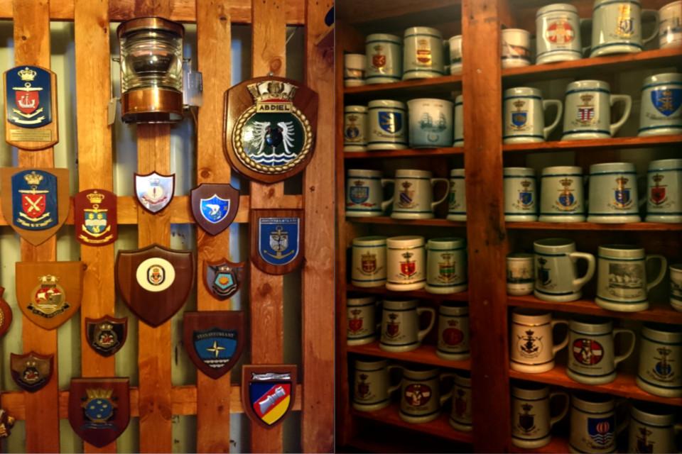 Коллекция кружек, которые по традиции капитаны кораблей