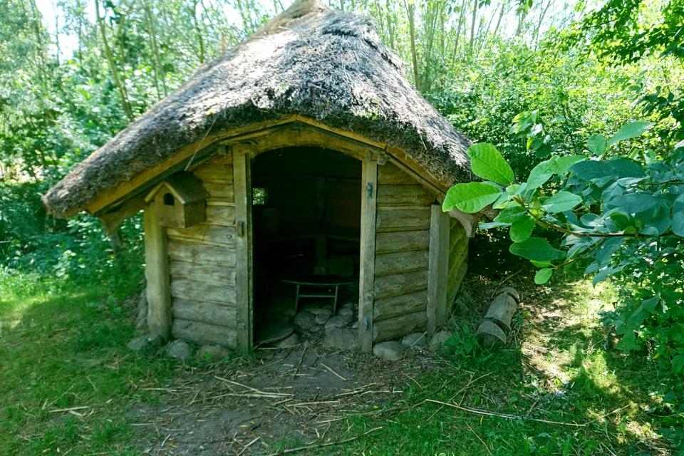 Бывшая сауна - теперь детский домик, Фриланд / Friland, Дания