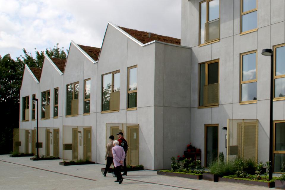 Здания с зелеными крышами. Фото 11 авг. 2019, Орхус / Aarhus, Дания