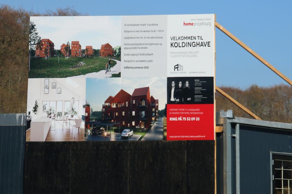 Строительство жилищного комплекса - губка. Фото 16 апр. 2019, Колдинг / Kolding, Дания