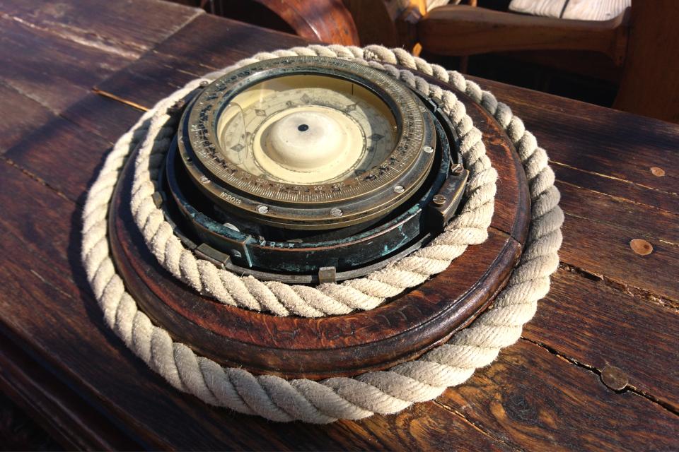 Старый компас. Фото 2 авг. 2019, порт г. Орхус / Aarhus, Дания