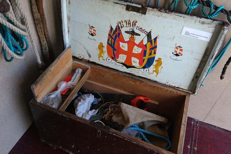 Старый ящик для инструментов и личных вещей, Морской музей / Aarhus Søfarts Museum