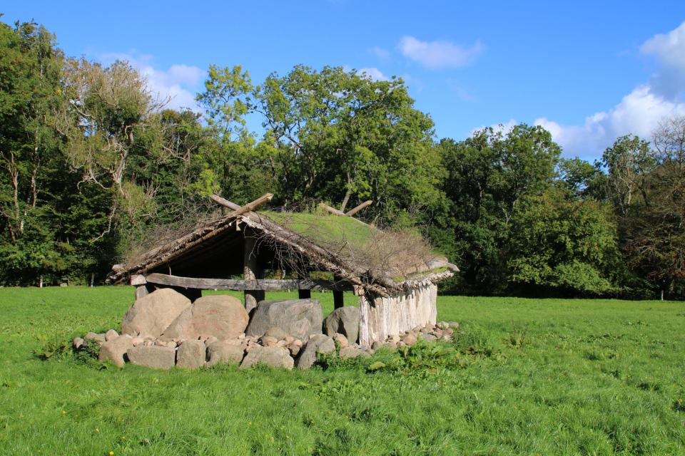 Реконструкция постройки железного века - времен викингов