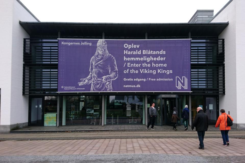 """Вход в музей """"Дом королей викингов"""". Фото 12 фев. 2019, Дания"""