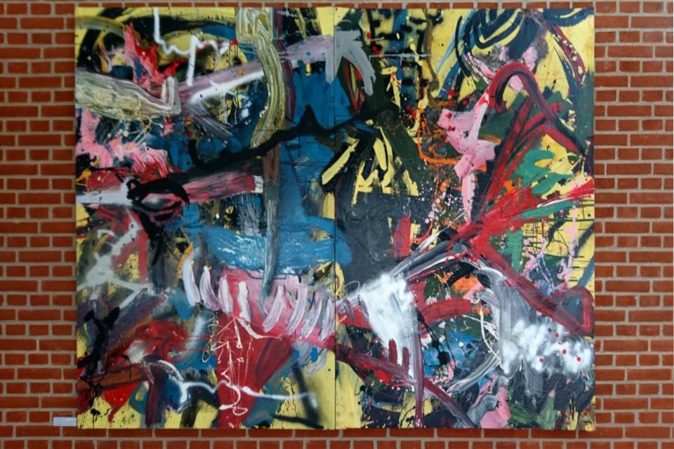 "Картина художника Ларс Нёргод / Lars Nørgaard - ""Габи ограбили"" (англ. ""Gaby robbed"")"