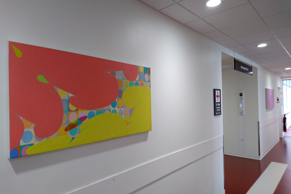 Картины современных датских художников в коридоре университетской больницы г. Орхус