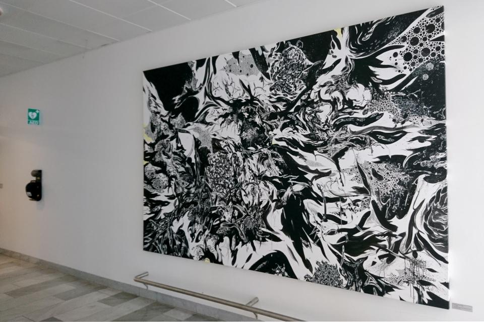 "Картина датского художника Кристиан Винд (Christian Vind) под названием ""U.T."""