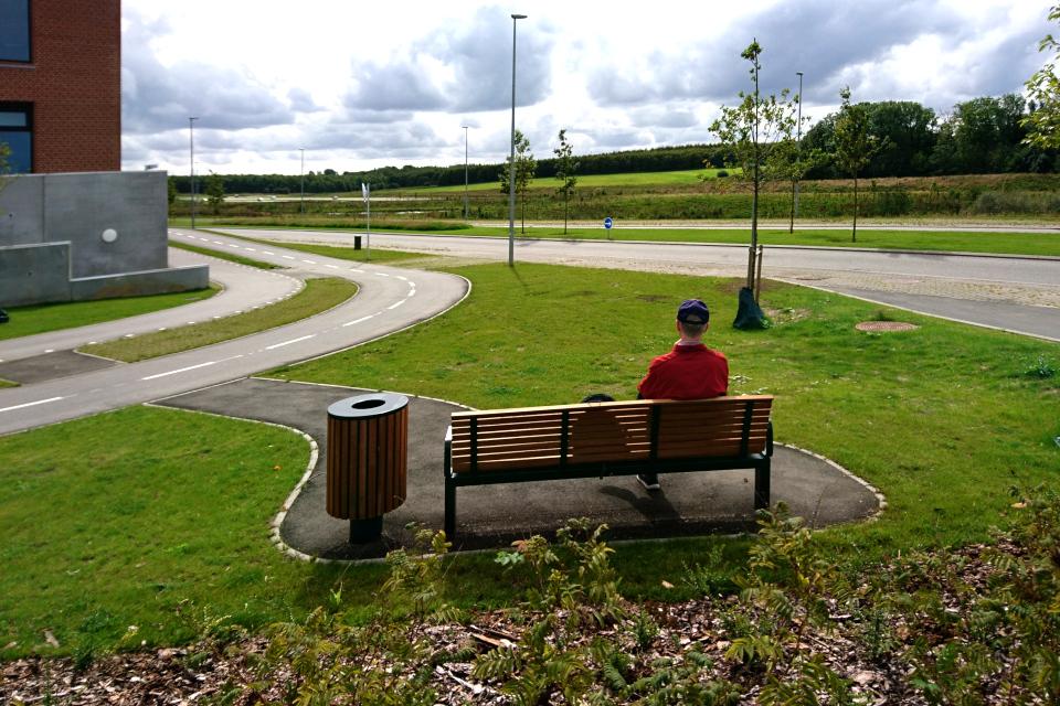 Вид на парк возле больничного городка. Фото 1 сент. 2019, г. Орхус / Aarhus N, Дания