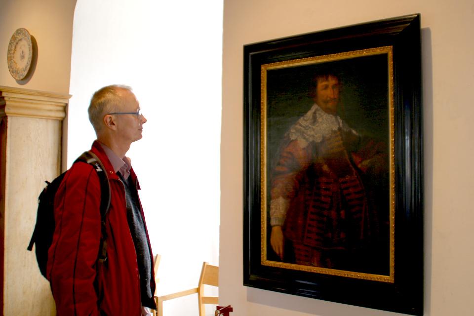 Портрет датского короля Кристиан IV в старинном замке Колдингхус (Koldinghus)