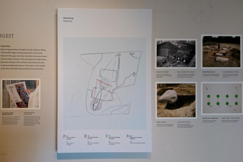 Иллюстрация нахождение камней и разных теорий по поводу каменного корабля