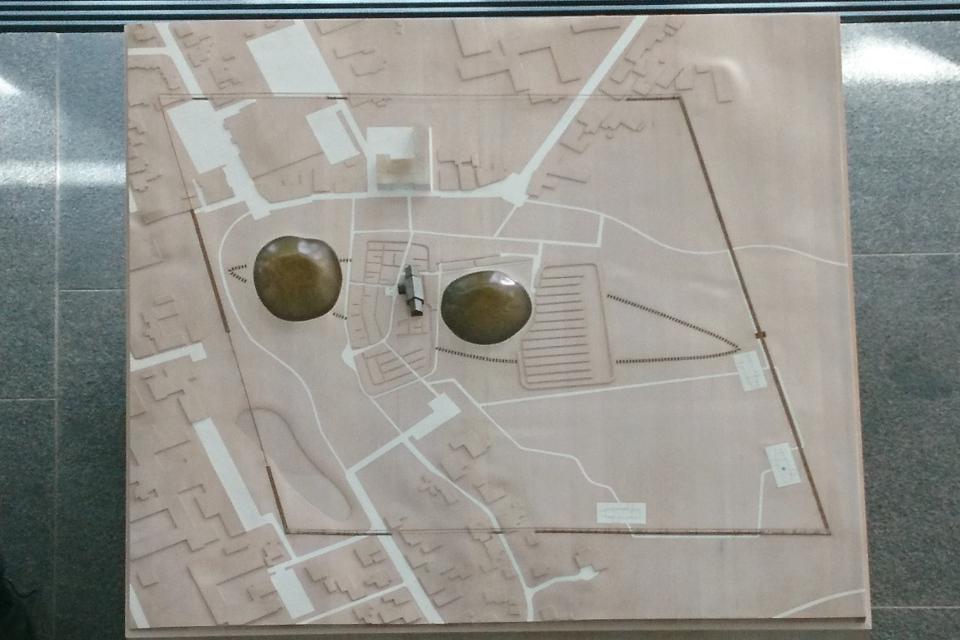 Макет археологического комплекса Еллинг
