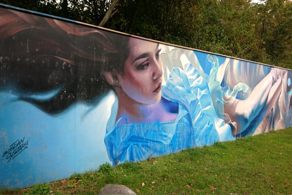 Стрит арт, выполненный художниками Bogdan Scutaru, Орхус / Aarhus, Дания