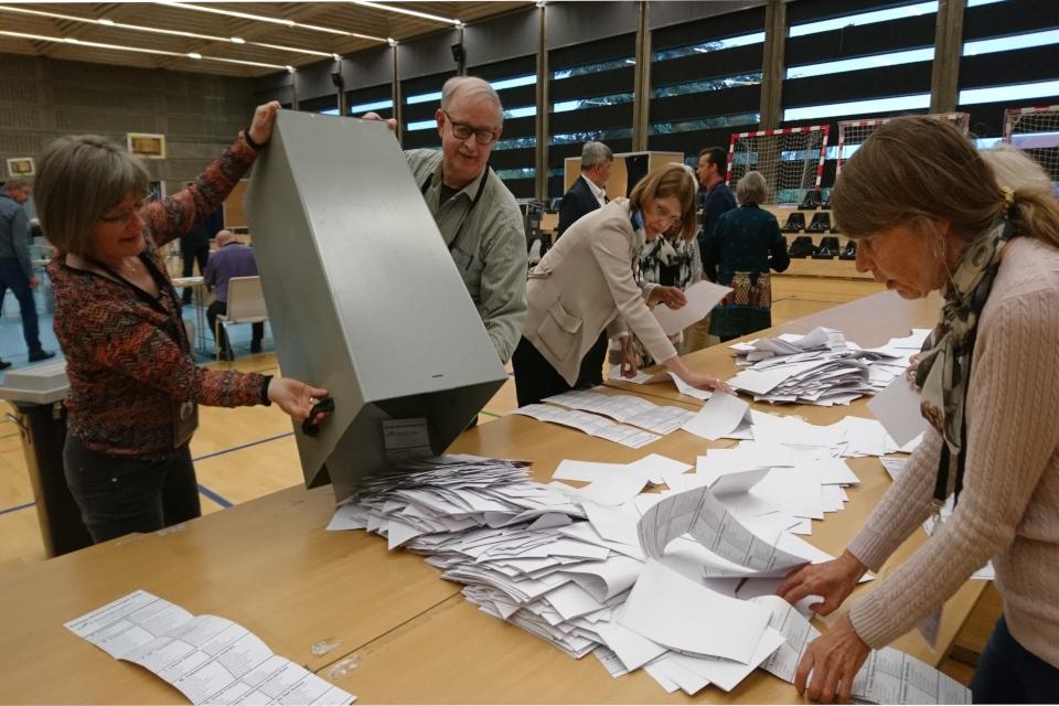 Подсчет голосов после окончания времени голосования, Дания