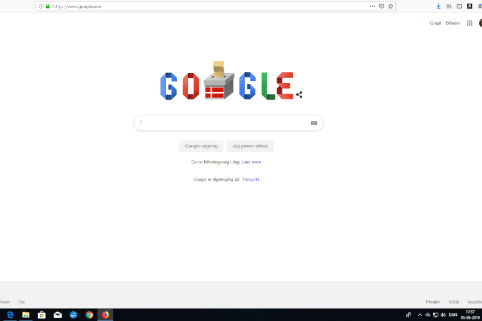 Тематический рисунок Дудл (Doodle) на странице Google в день выборов
