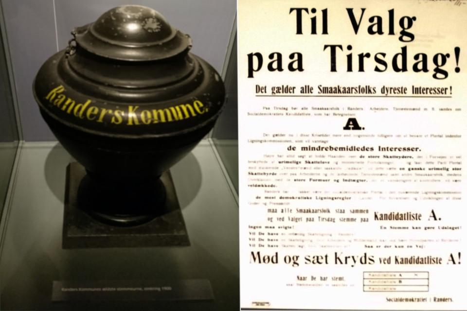 Избирательная урна муниципалитета Рандерс 1900 года, Дания