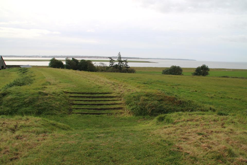 Вид на фьорд с земляного вала бывшей крепости Аггерсборг