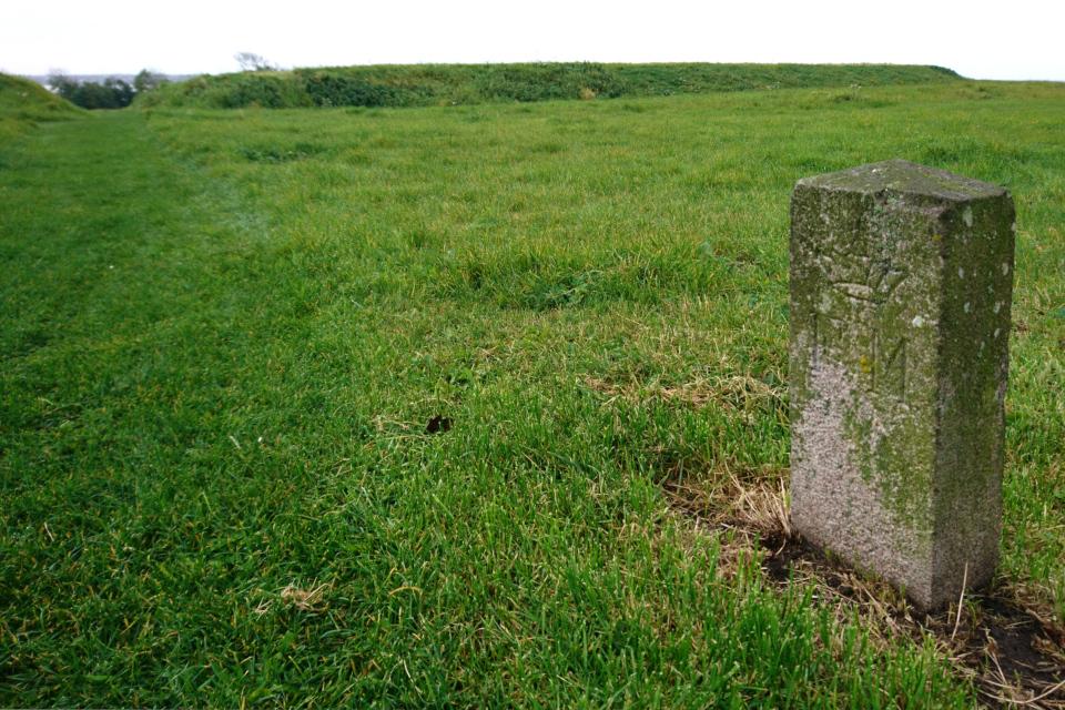 Гранитный камень возле крепости викингов Аггерсборг