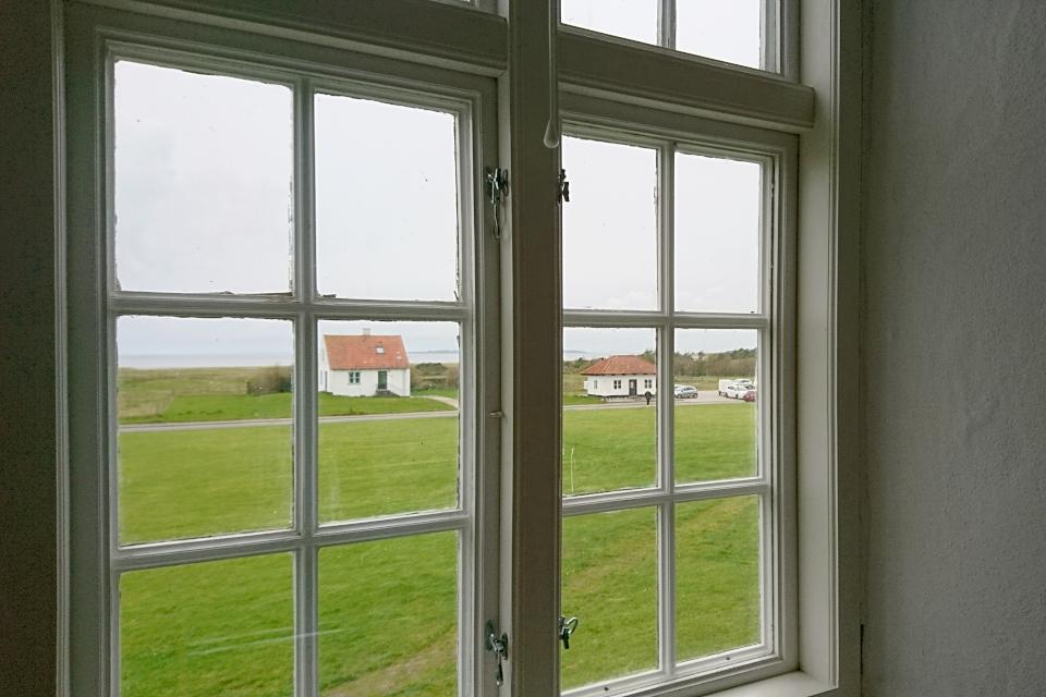Вид из окна монастыря Витскол на фьорд