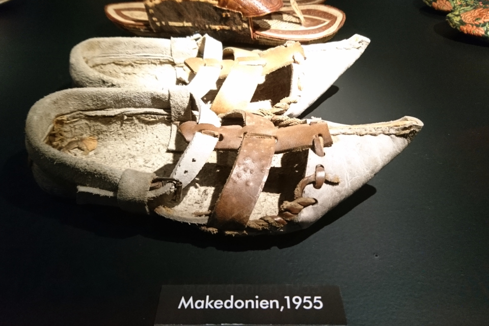 Обувь с удлиненным носом из Македонии (1955 г.)